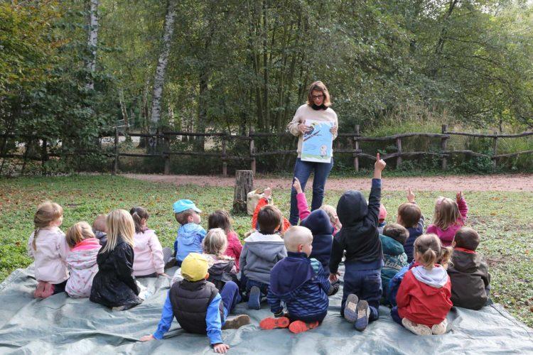 Animation scolaire au parc des oiseaux
