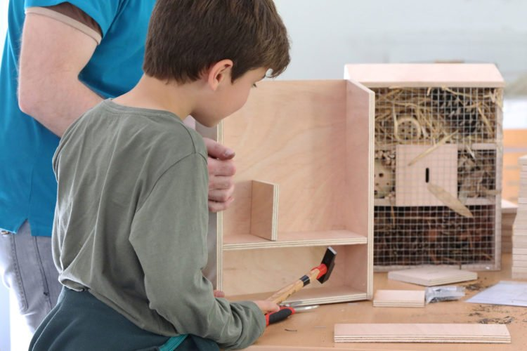 Atelier nichoir au parc des oiseaux
